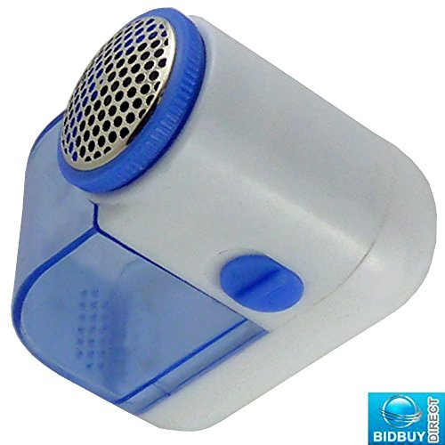 BRAND NEW - SMALL LINT REMOVER - BOBBLE OFF CLOTHES SHAVER - QUICKLY REMOVES PET HAIRS, STRAY FIBRES, FABRIC LINTS, DUST AND DIRT (BLUE) by BID BUY DIRECT