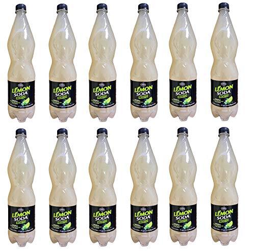 12x Lémonsoda Mojito alkoholfreies Getränk mit sizilianischen Zitronen PET 1Lt Italienischer alkoholfreier Mojito Softdrink