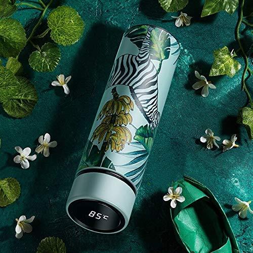 wangYUEQ Botella de Taza con Pantalla de Temperatura Acero Inoxidable Aislamiento térmico Inteligente Frasco de vacío Taza de café