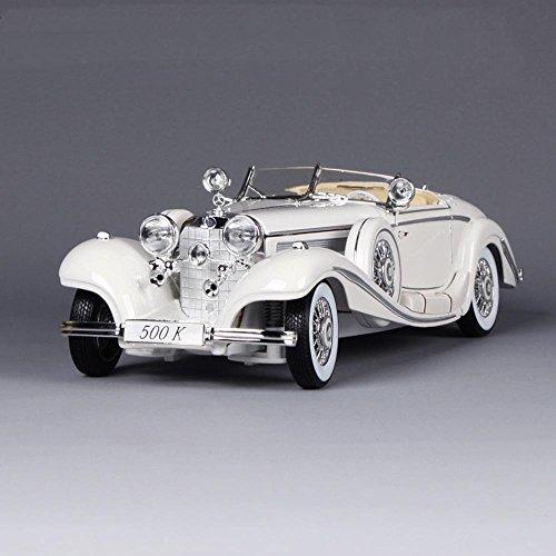Penao Mercedes-Benz 500K Vintage Classic Auto-Modell, Legierung Automodell, Auto Simulationsmodell Verhältnis 01:18