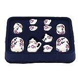 Puppenhaus Miniatur-Ess-Geschirr Aus Porzellan Tee-Set 15pcs Weiß Mit Blume