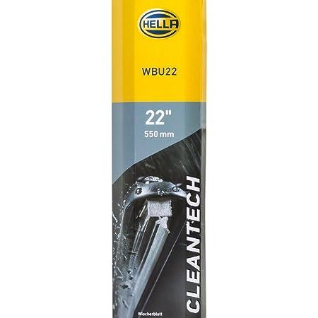 Hella 9xw 358 053 221 Cleantech Scheibenwischer Wbu22 Flachbalkenwischerblatt Für Linkslenker 22 550mm Vorne Menge 1 Auto