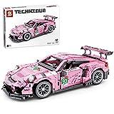 YUGE Maqueta de coche de carreras y coches deportivos, 1063 piezas, compatible con la técnica Lego.