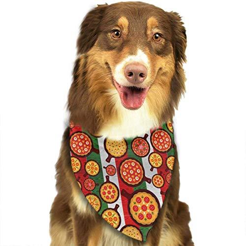 Delicious Pizza Cartoon Pet Dog Cat Puppy Bandana Triangle Head Scarfs Accessories