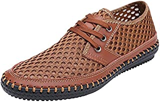 Forucreate Men's Summer Breathable Mesh Casual Walking Shoes Driving Loafers
