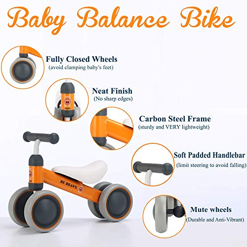 Ideal Ride on Toys for 1 Year Old BEKILOLE Baby Balance Bike Perfect as First Bike Baby Bicycle for 10-24 Months First Birthday Gift