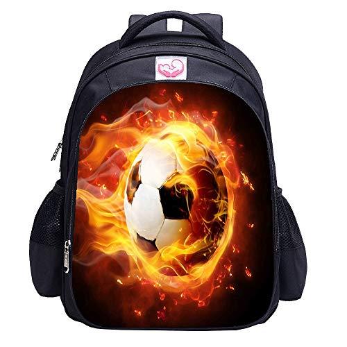 Mochila de fútbol para niños  de impresión de Cool Football Pattern School Bag
