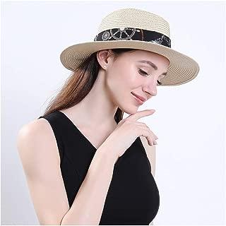 LiWen Zheng Women Men Summer Straw Wide Brim Beach Panama Sun Fedora Hat Hollow Out Mesh Snake