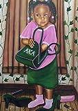 Just Like My Mom - Aka (Sorority) - Fred Mathews 18x24 Unframed - African American Black Art Print Wall Decor Poster