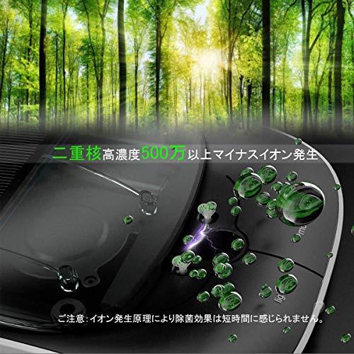 車用空気清浄機最新スマート空気清浄機エンジン状態より自動清浄三つスマートモードソーラー/USB給電アロマ使用でき超静音イオン発生器除菌消臭シガーソケット付複合型HEPAフィルタータバコ花粉アレル物質PM2.5対策微粒子99.98%除去