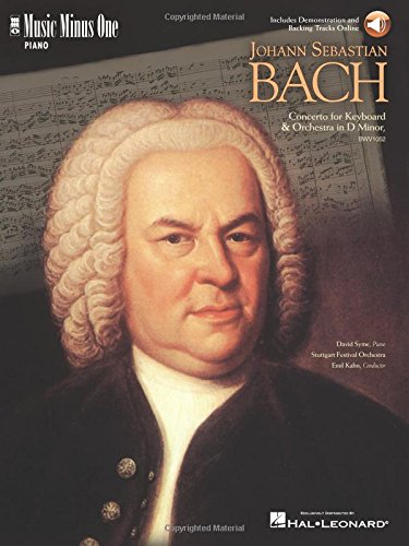 J.S. Bach - Concerto in D Minor, Bmv1052: Piano Book/2-CD Pack (Music Minus One (Numbered))