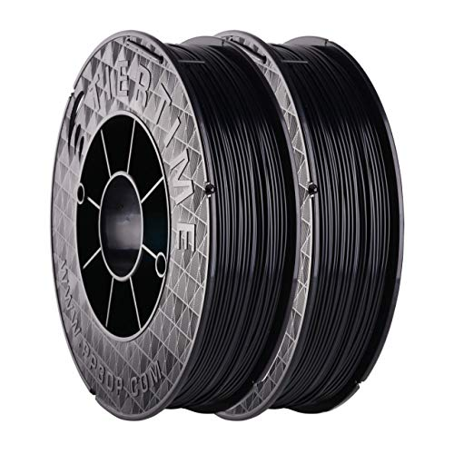 UP Fila Tough ABS 3D Printer Filament, Higher Impact Strength, Low Odor, Consistent 1.75mm Diameter,1KG (500g×2 Spools), Black