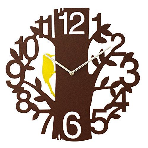 ぼん家具 時計 振り子時計 小鳥 壁掛け 振り子 壁掛け時計 掛け時計 ウォールクロック ブラウン