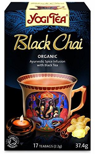 Yogi Tea | Bio Black Chai - 1x 17 Beutel | ayurvedische Gewürzteemischung mit schwarzem Tee, Ingwer, Zimt