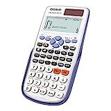 OSALO Calculadora científica Pantalla escrita grande solar calculadora con funda protectora para la escuela (OS 991ES PLUS)