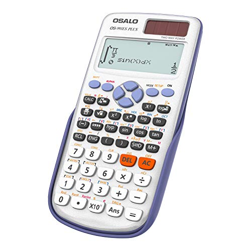 OSALO Wissenschaftlicher Taschenrechner Schriftliche Anzeige Solarbetriebener Ultraleicht-Taschenrechner (OS-991ES PLUS)
