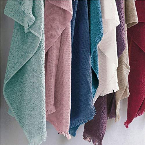 FAZZINI Dafne gast en handdoek, 100% katoen, lood, 110 x 60 x 0,5 cm, 2 stuks
