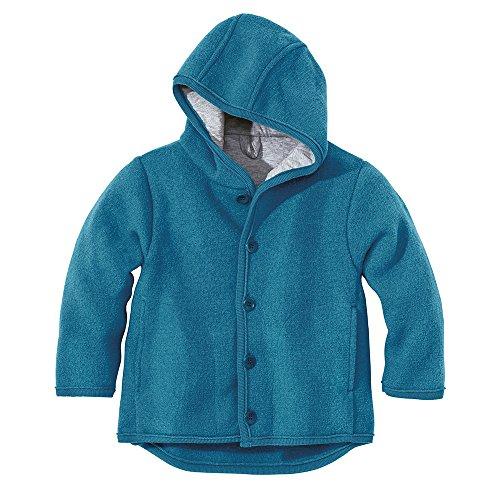 Disana Baby und Kinder Walk Jacke 323 aus Bio Schurwolle kbT, blau Gr. 62/68