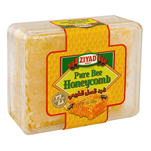 Ziyad Raw All-Natural Honeycomb, 100% Pure Unfiltered Honey Comb, 100% All-Natural, No Additives, No Preservatives, From the Turkish Mountains, 13 oz