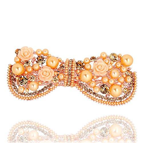 Korean version of the rhinestone hair clip top clip headgear Korea hairpin hair accessories Horizontal clamp clip-B
