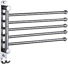 LWB Black Space Aluminium badkamer Handdoekrek roterende staaf Handdoekrek Hotel Handdoekrek Handdoek rack-9.23 (Color : 4)