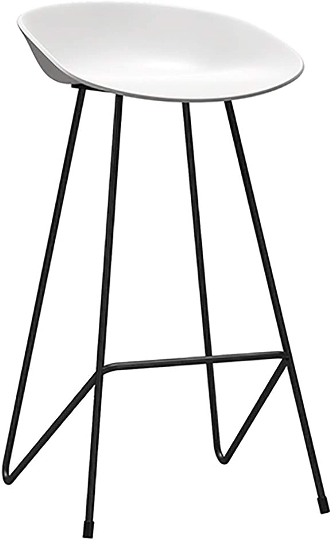 Solid Steel Bar Stool, Simple Wrought Iron High Stool, Nordic Style Comfortable Seat, Ergonomic Design