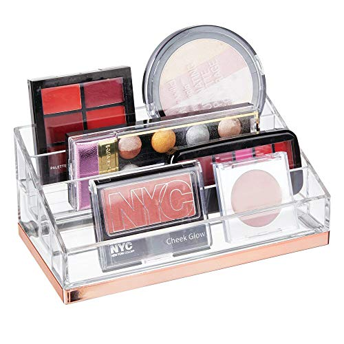 mDesign praktischer Kosmetik Organizer – dekorative Kosmetik Aufbewahrungsbox für Nagellack und...