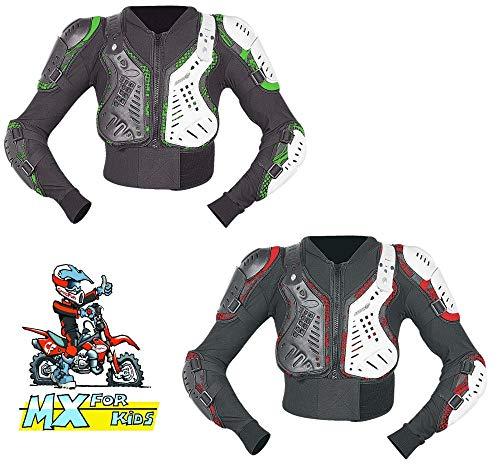 HEYBERRY Motocross Protektoren Jacke Brustpanzer Neon für Kinder 7 bis 10 Jahre