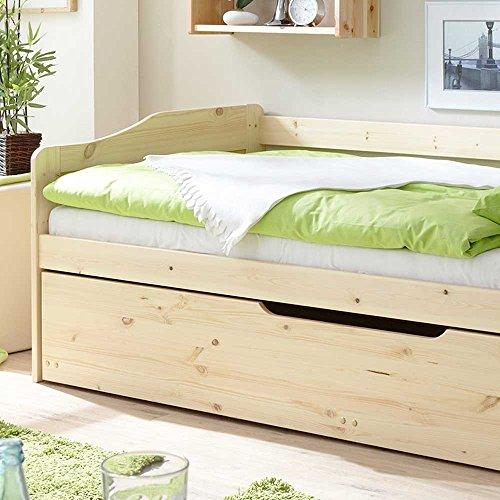 Massivholzbett mit Bettkasten Gästebett Pharao24 - 3
