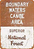 MJhair 20 X 30 CMChic Tin Signs,Boundary Waters Do Not Fade Vintage Look Sign Poster Plaque for Garages All Kinds of Individual Character Places Or Home Decoration