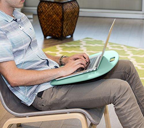 Honey-Can-Do TBL-03540 Portable Laptop Lap Desk with Handle, Mint, 23 L x 16 W x 2.5 H