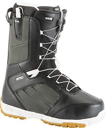 Nitro Snowboards Herren Anthem TLS 19' Leichter Snowboardschuh Snowboardboot mit Schnellschnürsystem Allround Freestyle Freeride Softboot Warm Boots, Black-White, 27.0