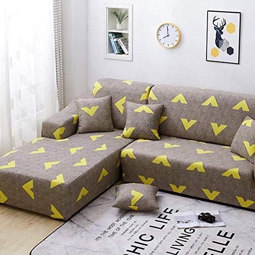 MWPO Fundas de sofá en Forma de L, Mascotas, Perros, Antideslizante, para sofá, 2 Piezas, elástico, seccional, para sofá, con Espuma Antideslizante y Base elástica, en Forma de L, 4 + 4 Asientos