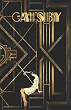 THE GREAT GATSBY: Notebook Journal Gold & Black Retro 20s 30s - College classic Ruled Pages Book (5.5 x 8.5) a5 Planner Lined Journal Composition Notebook to write in (Positive Vibrations)