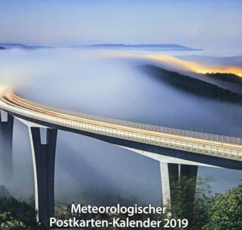 Meteorologischer Postkarten-Kalender 2019: 12 farbige Postkarten mit Motiven zum Thema Stadt und Klima