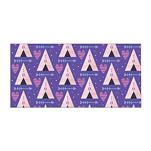 YQTYGB Estilo Bohemio Toallas de Playa 75×150cm Microfibra Manta de Playa Seque Rápidamente Picnic Viajes Nadar Playa Toallas Piscina Suministros para la Fiesta.Casita Triangulo Morado