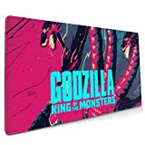 Godzilla Pink Extended Gaming Mouse Mat, DIY Custom Professional Mouse Pad (35.5x15.8In), Stitched Edges,Desk Pad Keyboard Pad Mat, Water-Resistant, Non-Slip Base, For Work & Gaming, Office & Home