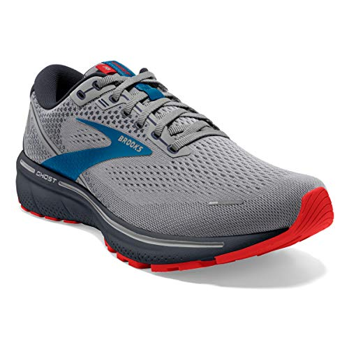 Brooks Ghost 14 Grey/Blue/Red 11 D (M)