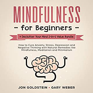 Mindfulness for Beginners + Declutter Your Mind 2-in-1 Value Bundle: How to Cure Anxiety, Stress, Depression and Negative Thinking with Natural Remedies cover art