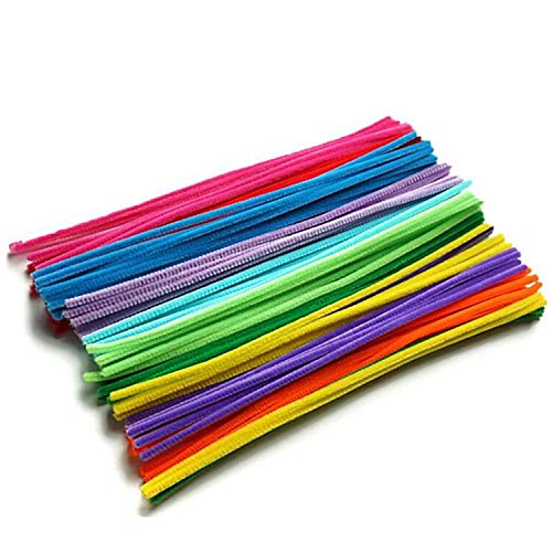 Adkwse Pipe Cleaners 100Pcs Chenille Stems Assorted Colors for Toddler Kids DIY Art Craft Pipe School Projects Decorations (6 mm x 12 inch)