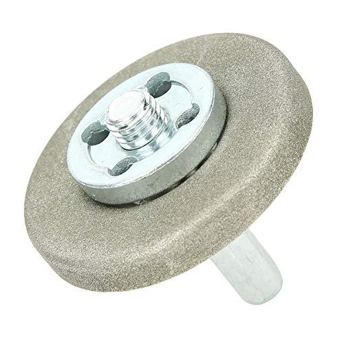 Piedra de afilar, acero inoxidable, 5,6 cm de diámetro, muela abrasiva de alta dureza, para herramienta de cepillado, taladro, tijera[360 mesh]