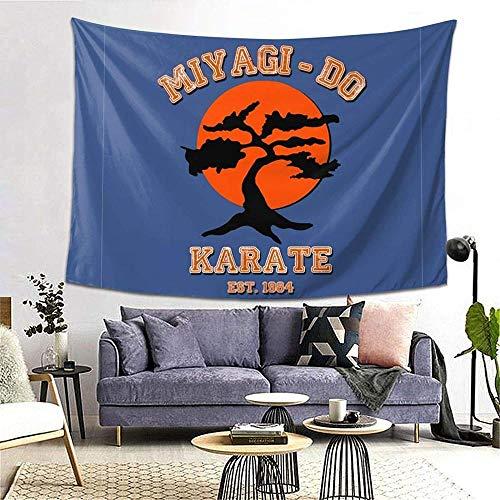 YANMI Miyagi Do Karate Kid Bonsai Tree Wall Hanging Tapestry Decorations Bedroom Living Room Dorm 80x60 Inches