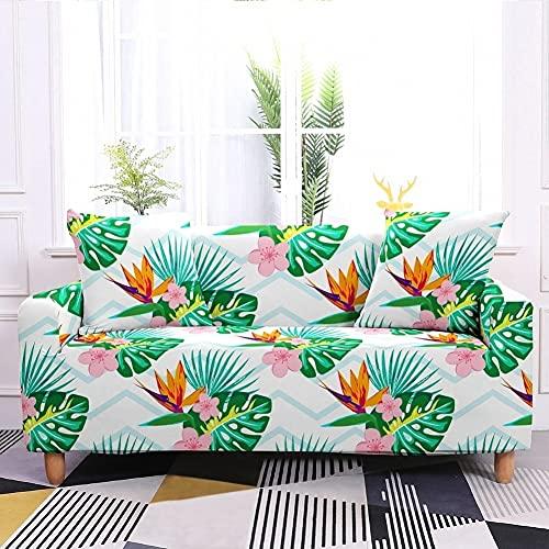 WXQY Sala de Estar Funda de sofá elástica con Estampado Floral Todo Incluido Funda de sofá de Esquina en Forma de L Funda de sillón Funda de sofá A3 4 plazas
