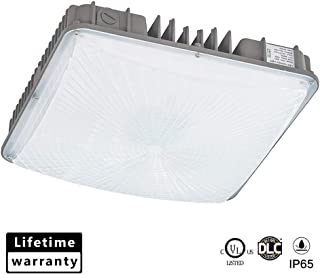 KCCCT Canopy Light, 70W 9100lm, IP65 Waterproof, 600W HID/MH Equivalent, UL&DLC Listed 5000K Daylight Outdoor LED Canopy Lights for Gas Station, Street, Area, Commercial Security