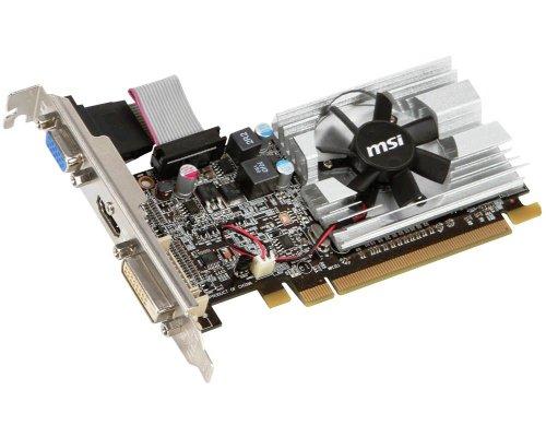 MSI R6450-MD1GD3 AMD Radeon HD 6450 Grafikkarte (PCI-e, 1024MB GDDR3 Speicher, VGA, 1 GPU)