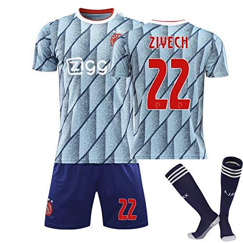 AFC Ajax 20/21 Home/Away Game No.22 Hakim Ziyech Fußball Trikot Mit Shorts Und Socken Kindergrößen Erwachsene,3,26