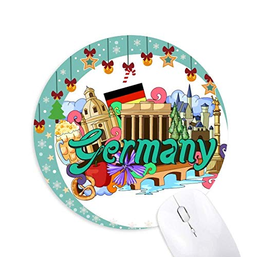 Neue Swan Stone Castle Bier Deutschland Graffiti Maus Pad Jingling Bell Round Rubber Mat