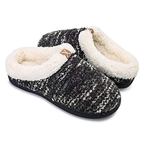OUSIMEN Pantofole Uomo Donna Pantofole in Memory Foam Pantofole in Feltro Pantofole in Peluche Caldo per Interni Esterni