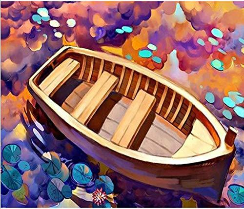 dxefdmoin DIY Pintura Digital Manual para Colorear Acuarela Pintura decoración del hogar Pintura Dibujos Animados Nave
