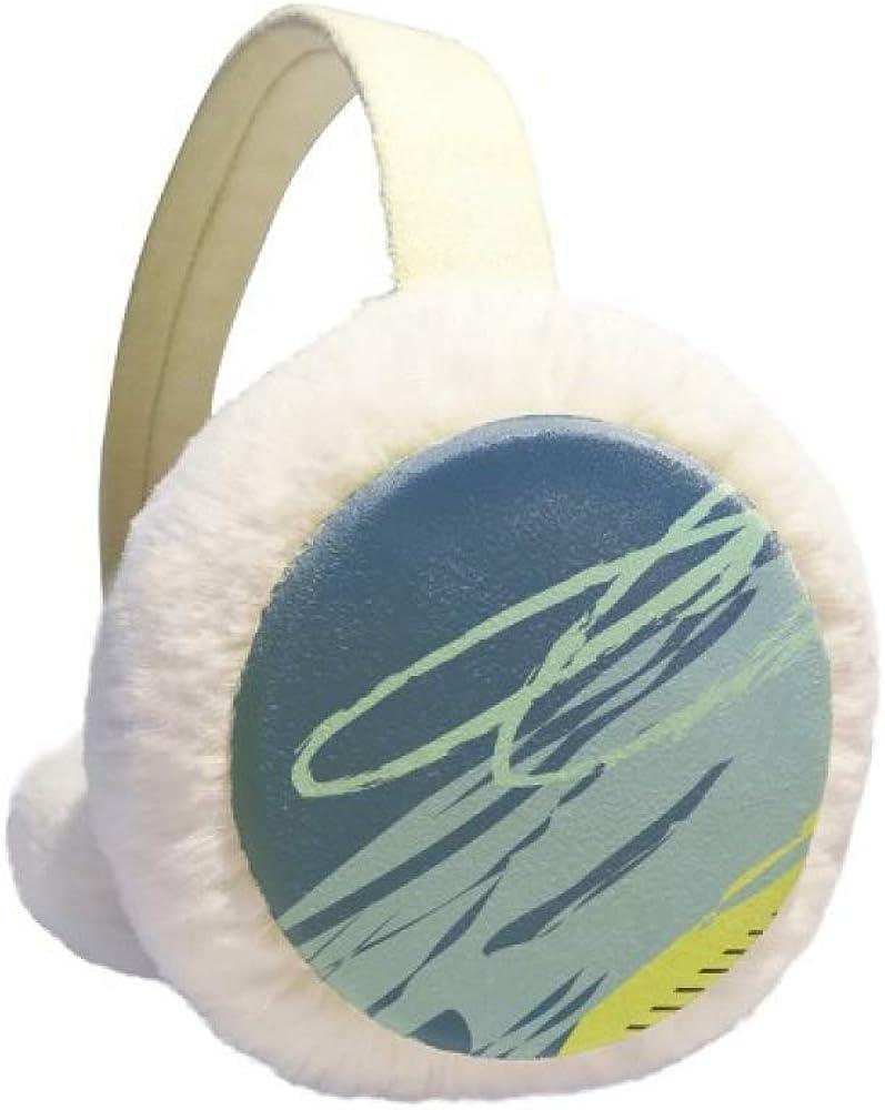 Peaceful Abstract Plants Art Pattern Winter Earmuff Ear Warmer Faux Fur Foldable Plush Outdoor Gift